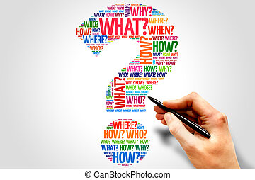 Question mark, Question word cloud, business concept