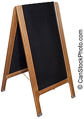 black board shop menu stand
