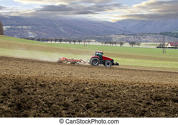 tractor in the field