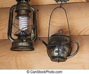 lamp, interior, country style