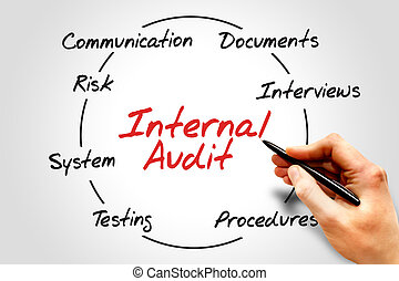 Internal Audit process circle, business concept