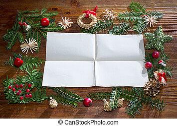 papel, Plano de fondo, navidad, vacío