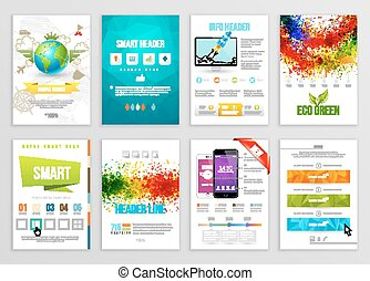 Set of Flyer, Brochure, Background, Banner Designs Vector...