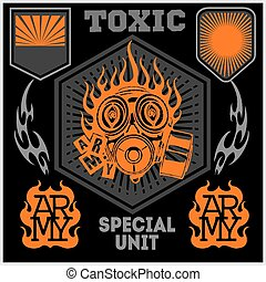 Special unit military patch - vector set - Special unit...