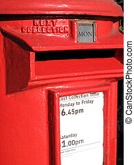 Postbox - Traditional red UK pillar post box