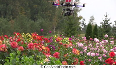 octocopter camera fly