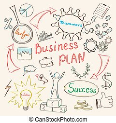 Business inspiration concept - Business plan concept with...