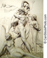 Pluto & Proserpine Sculpture - Relief of Pluto and...
