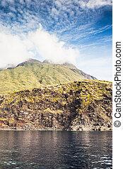 Stromboli - Sciara del fuoco in Stromboli volcano island,...
