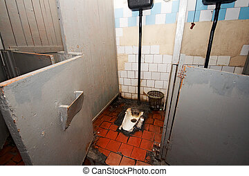 lavatory - dirty booth public lavatory