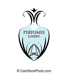 Abstract vector logo with patterns for perfumery