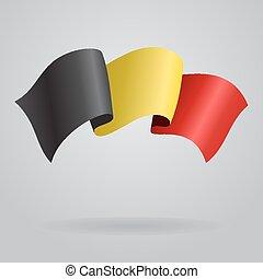Belgian waving Flag. Vector illustration Eps 8.