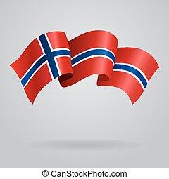 Norwegian waving Flag Vector illustration Eps 8