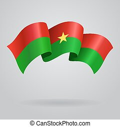 Burkina Faso waving Flag. Vector illustration
