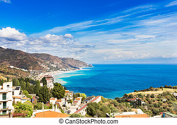 Taormina - Landscape from village of Taormina, Sicily Italy...