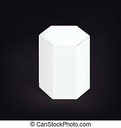 hexagon modern packaging box