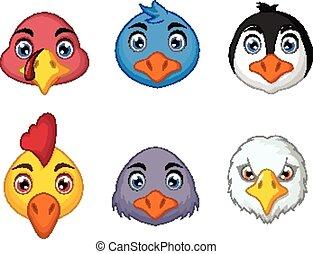 bird head cartoon