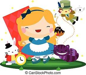 Cute Girl in Wonderland