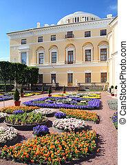 view on palace in Pavlovsk park
