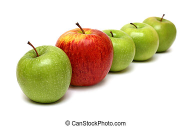 different concepts with apples