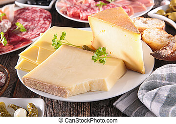 plate of cheese on table