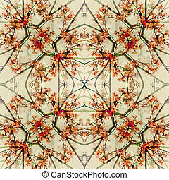 Floral Geometric Pattern Collage - Digital collage technique...