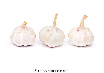 garlic isolated on a white