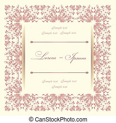 invitation card - Beautiful invitation card with floral...