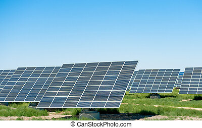 Solar field - Solar panels in a field
