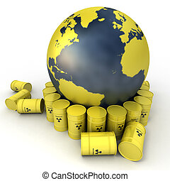 Nuclear waste disposal - The Earth, oriented to the Atlantic...