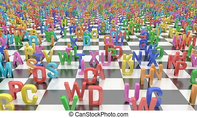 Endless alphabet letters - A field covered by endless...
