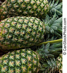 Pineapples stall at the market