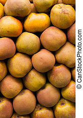 Russet apples - A pile of russet apples in the grocery shop