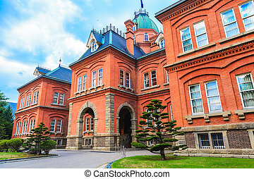 Former Hokkaido Government Office in Sapporo, Japan. -...