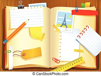 Vector illustration of the notebook - Vector sketch...