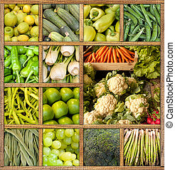 Healthy diet collection - Composition of fresh fruit and...