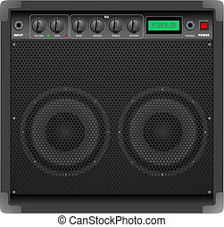 Amplifier - Vector illustration representing realistic...