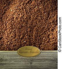 Ground Garam Masala labeled - Ground Garam masala spices...