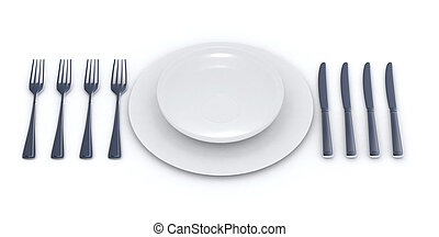 Place setting for a multiple courses menu