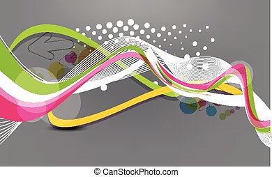 abstract colorful dotted wave