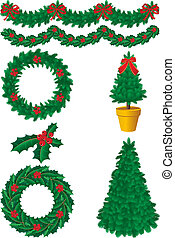 christmas decor - Vector illustration - christmas decor and...