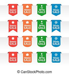Season sale paper tag labels