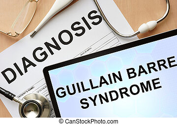 guillain barre syndrome - Tablet with diagnosis guillain...