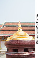 Mount meru model at buddism temple in Lamphun, Thailand