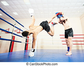 muai thai fighting technique - combat sport muai thai...