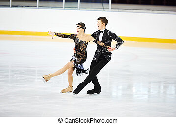 figure skating at sports arena