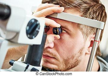 oftalmología, examen, vista
