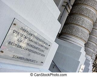 vienna austria supreme court - the supreme court in vienna,...