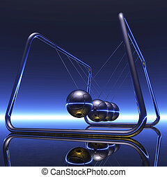 Digital Illustration of a Newton Pendulum
