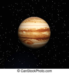 Jupiter - Digital Illustration of Planet Jupiter